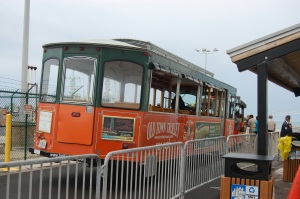Trolley from the Navy Basedock  to Key West